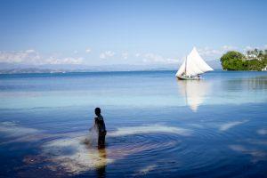 Photo of boy in sea in Haiti