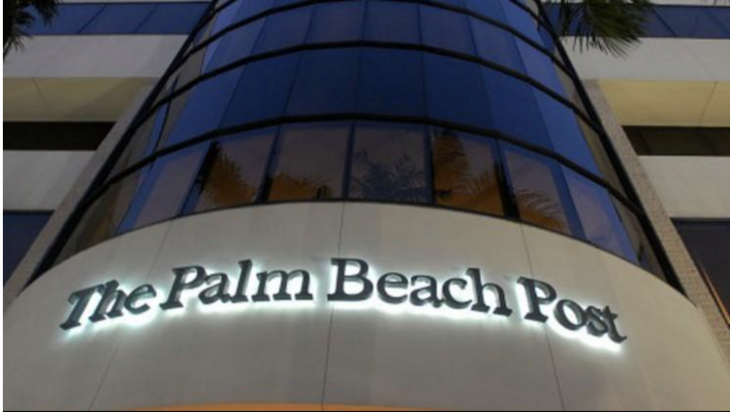 "Image of the exterior of ""The Palm Beach Post"" building"