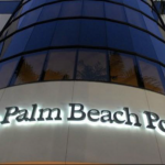 """Image of the exterior of """"The Palm Beach Post"""" building"""