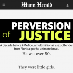 """Screen shot of the article headline """"Perversion of justice"""""""